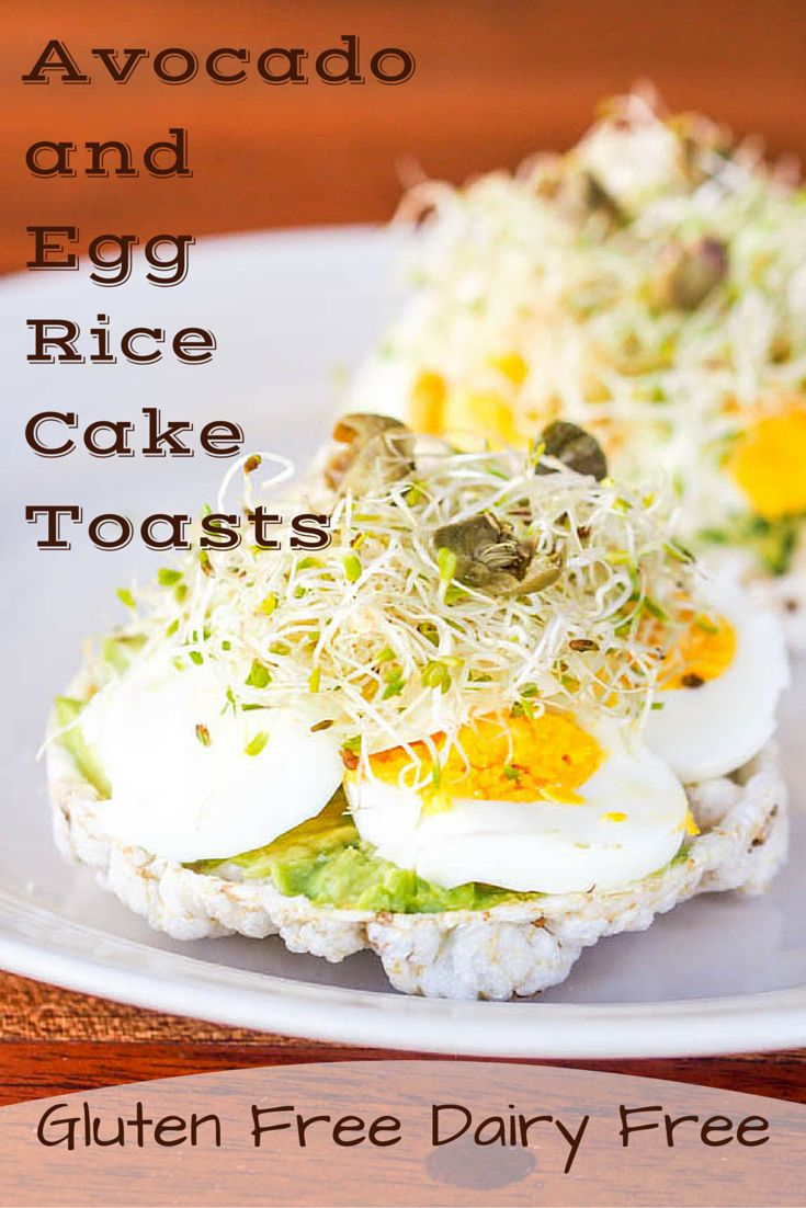 Perfect in its simplicity – open faced rice cake toasts topped with soft avocado, hard boiled eggs, fresh alfalfa and salty capers. A gluten free and dairy free breakfast ready in minutes.