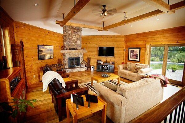 Colonial Concepts Log & Timberframe - Custom living room