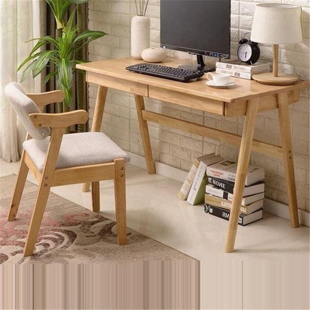 Simple Modern Home Student Desk Desktop Computer Table Garden Japanese Style Desks Furniture Computer Table Design Commercial Furniture