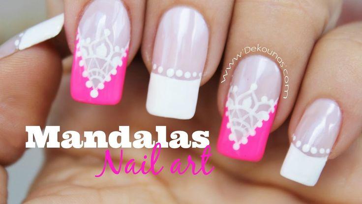 Decoración de uñas cortinas Mandalas - Mandalas nail art