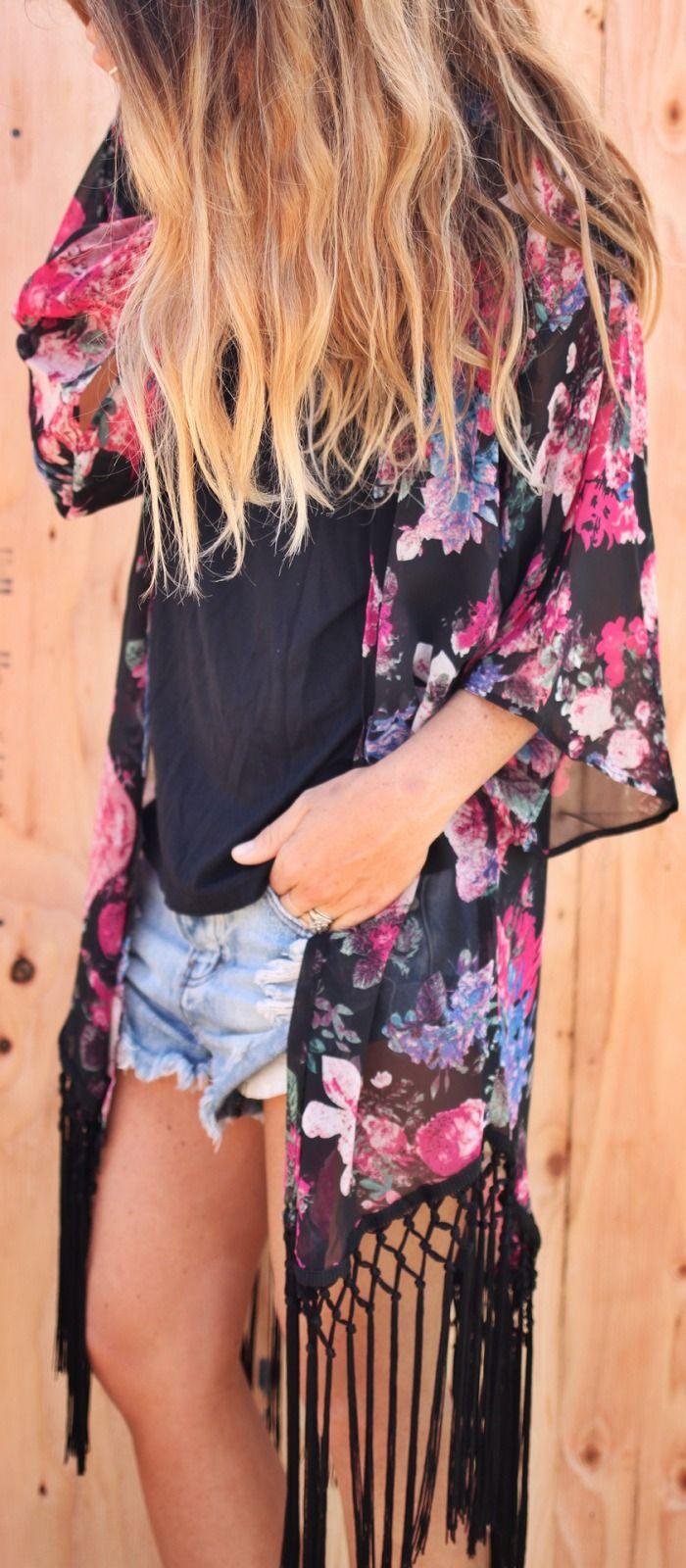 Fringe kimono.