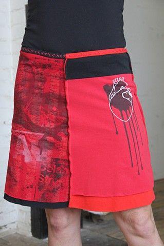 bleeding heart // tshirt skirt inspiration