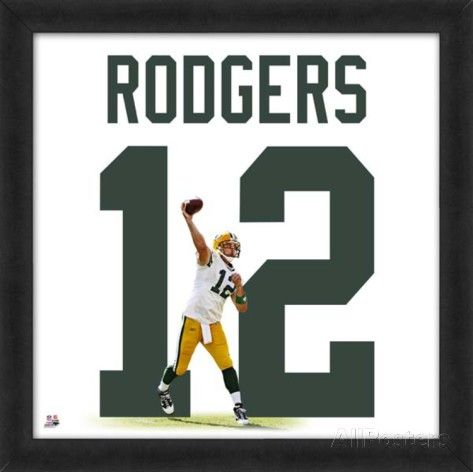Aaron Rodgers, Packers representation of the player's jersey Framed Memorabilia at AllPosters.com
