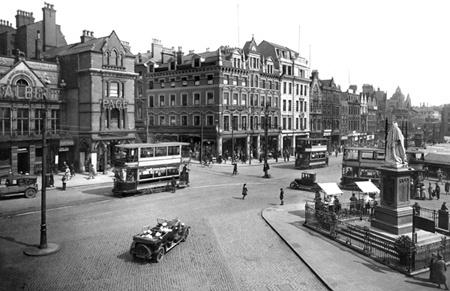The Market Square 1923, Nottingham.