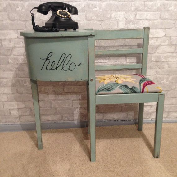 1940's Hand Painted Gossip Bench by RiasRestorations on Etsy