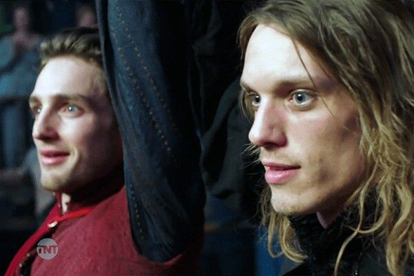 Will TNT Laurie Davidson as Will Shakespeare and Jamie Campbell Bower as playwright, poet Christopher Marlowe