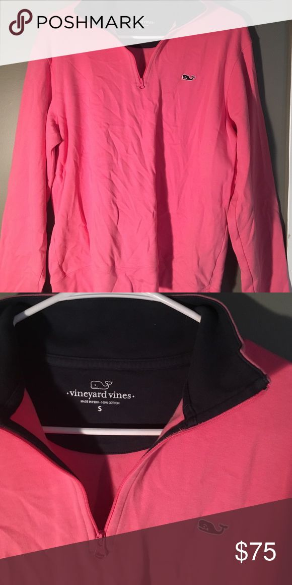 ⚡️⚡️FLASH SALE⚡️⚡️Vineyard vines 1/4 zip Only worn once, just not my style. Was a gift, unsure if this is men's or women's but fits like a women's medium. No rips or stains, great condition. **my dogs are hypoallergenic** Vineyard Vines Sweaters
