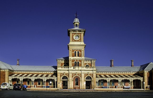Train station, Albury, Australia by aussiegall on Flickr