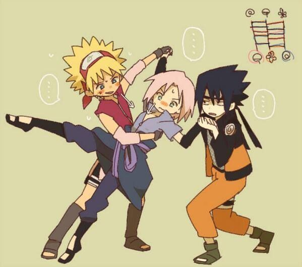 La cara de Naruto y Sakura (>u<) #Equipo7
