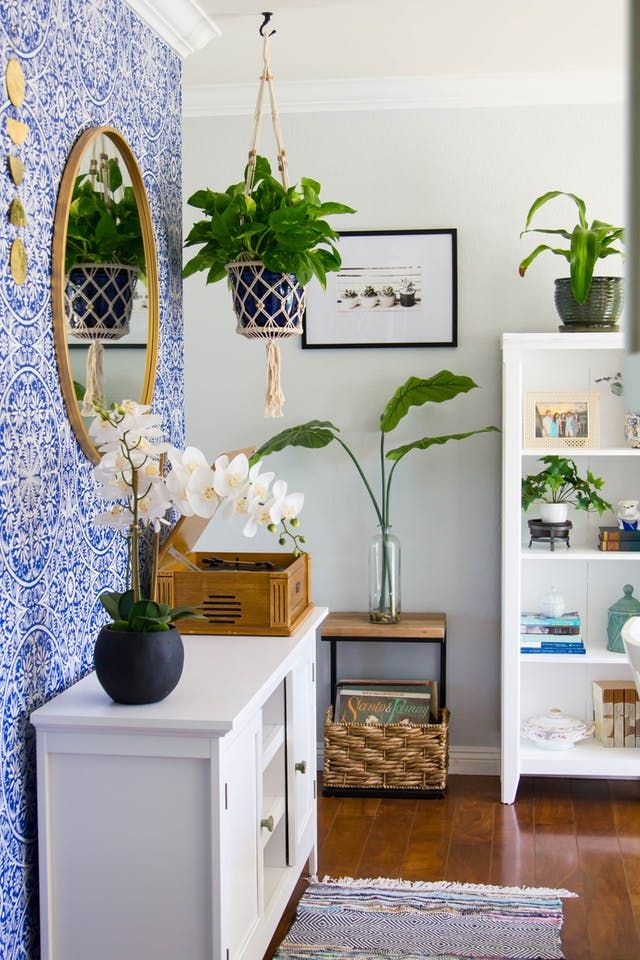 Plants and Pattern Add Color to This Beach Bohemian Bungalow in California
