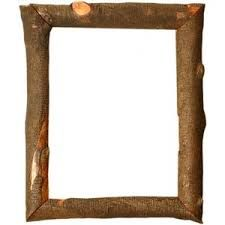 Log picture frame 300 x 300