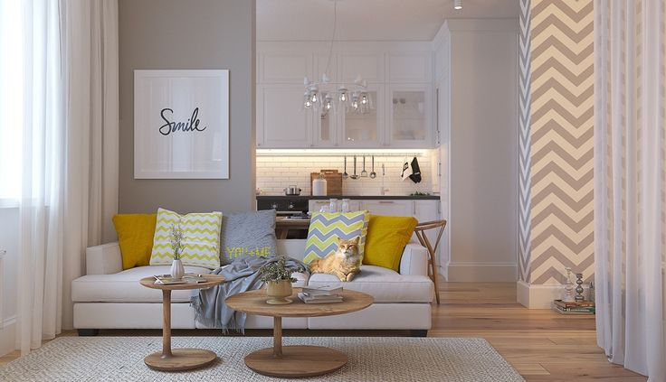zigzag-patterned-living-room-grey-and-yellow-swedish-look