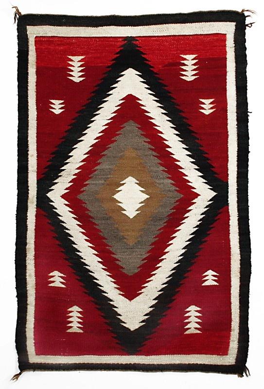 Navajo Ganado Rug Circa 1920 Arizona