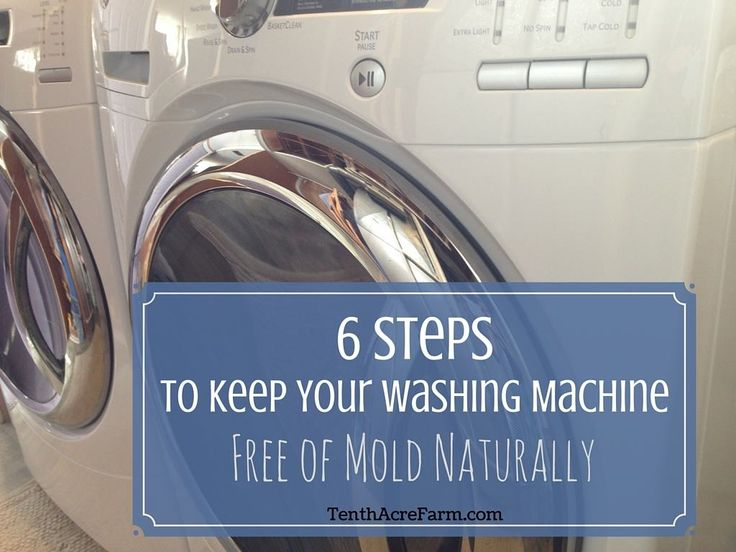 The biggest criticism of the front loading washing machine is that it breeds mold and musty smells. Follow these 6 steps to naturally prevent mold and musty smells from ever building up at no extra cost or effort.