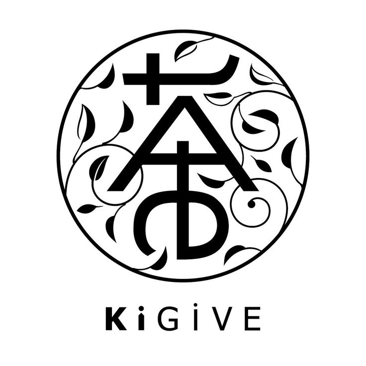 KiGiVE TEA Logo將英文字母與中文作結合,大家可以看出來嗎?  #font #design #art #typography #tea #combination #Latin #Chinese #kigive #like #cool #Taiwan