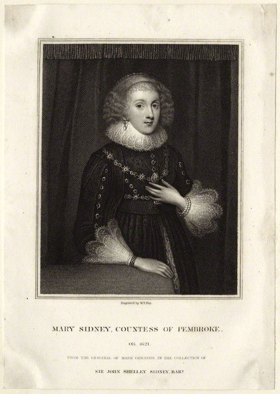 Lady Mary Sidney, she was one of four daughters of Sir Henry Sidney and Mary Dudley, the daughter of John Dudley, Duke of Northumberland.