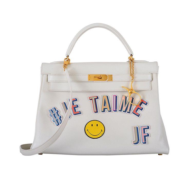 replica hermes handbags - JF ONE \u0026amp; ONLY HERMES JE TAIME JF 32cm WHITE KELLY VINTAGE GOLD ...