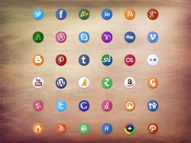 [PSD]Social icon set by Stafie Anatolie