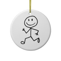 Stickman Runner Ornament