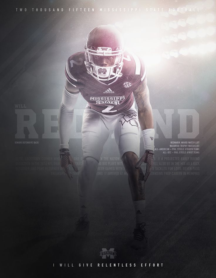 2015 Mississippi State Football Player Profiles on Behance
