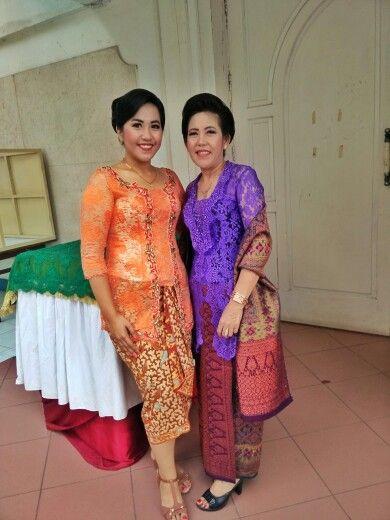 Wedding attire #kebaya #lace #kain #batik #songket