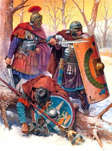 Legionaries of Trajan during the Dacian campaigns. Legionarios de Trajano durante las campañas de la Dacia