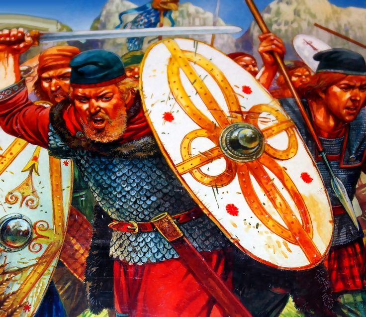 Dacian nobles charging into battle