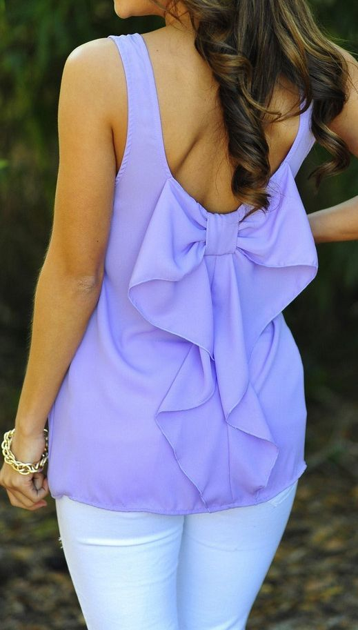 Lilac Bow-Back Tank ღ