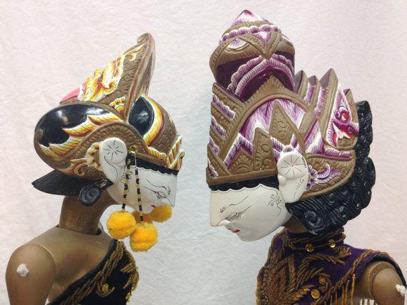 Wayang Golek Puppets Rama and Sita from by EthnicArtandJewelry, $749.95