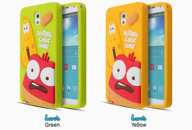 LARVA CARTOON 3D FUNNY SILICONE PHONE CASE FOR GALAXY NOTE 2