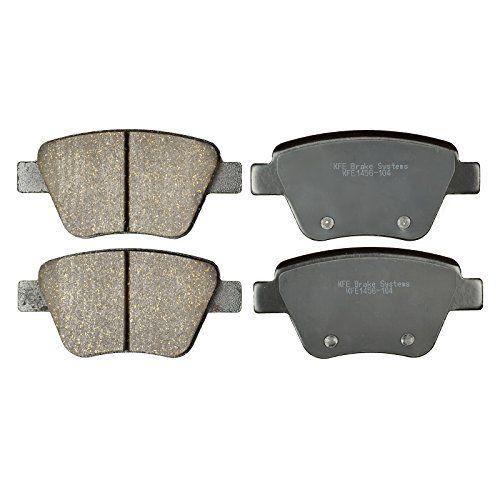 KFE Ultra Quiet Advanced KFE1456-104 Premium Ceramic REAR Brake Pad Set. For product info go to:  https://www.caraccessoriesonlinemarket.com/kfe-ultra-quiet-advanced-kfe1456-104-premium-ceramic-rear-brake-pad-set/