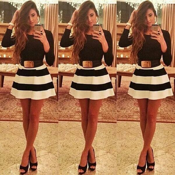 Black and white semi formal outfit