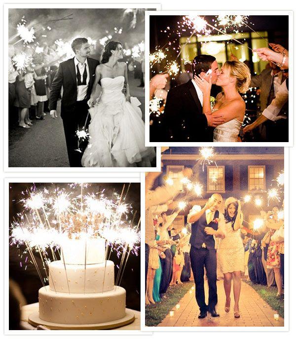 Ideas originales: bengalas en vuestra boda: iluminar no, ¡lo siguiente!