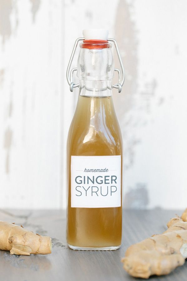 Homemade Ginger Syrup Recipe and Printable Labels on Sugar and Charm!