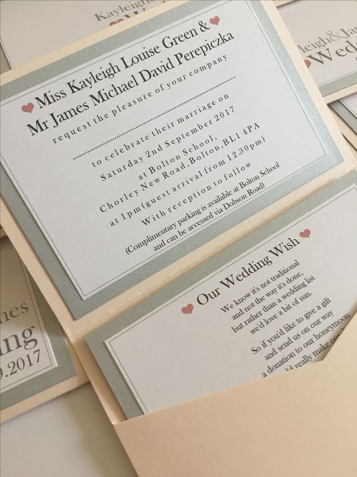 Plain & Simple Pocketfold Wedding Invitations in Blush Pink & Silver