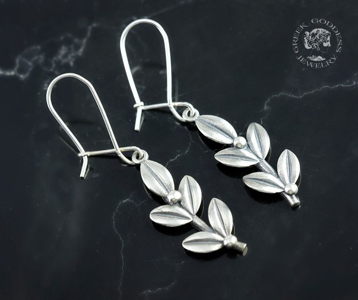 olive leaves silver earrings, olive leaf, silver olive leaf, olive leaf earrings, olive leaves, leaf earrings, silver leaf, greek earrings by GreekGoddessJewelry on Etsy