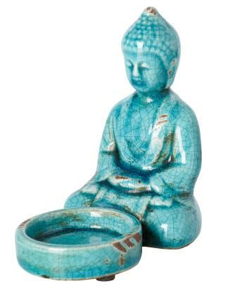 BUDDHA lantern turquoise | T-light standing | Candles and Lanterns | Interior | INDISKA Shop Online