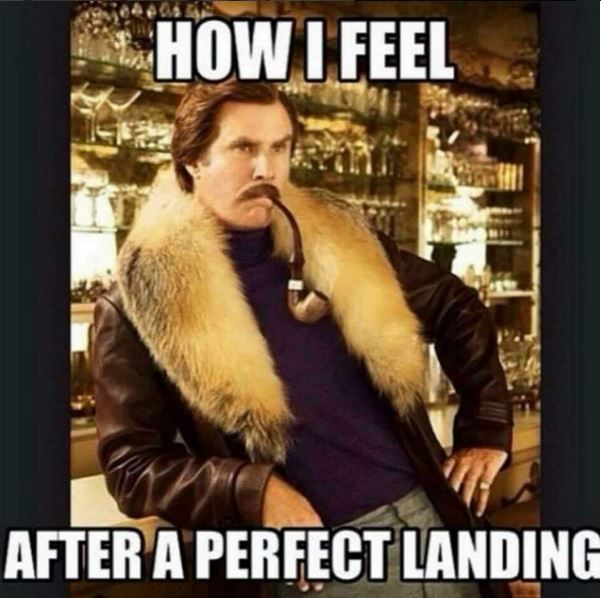 #aviationhumor #howifeelafteraperfectlanding #pilotlife