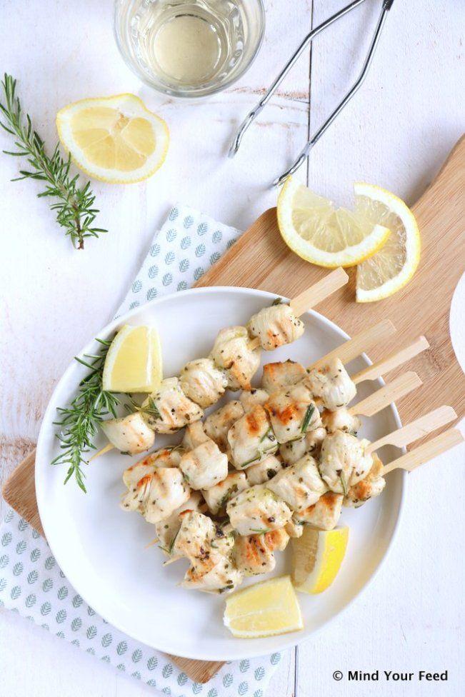 Italiaanse kip spiesjes met citroen