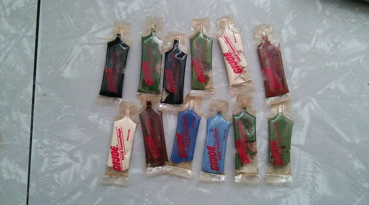Vintage GI Joe Action Figure Camouflage Face Paint  12 Tubes Assorted Colors by collector1969 on Etsy