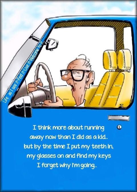 Elderly Cartoon Humor | ... Old, Senior Citizen Humor - Old age jokes cartoons and funny photos