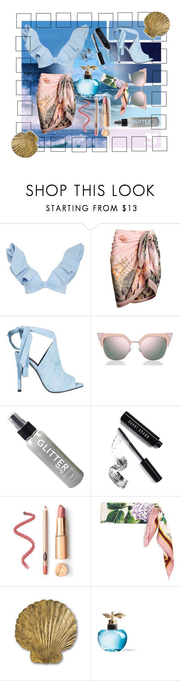 """Beach Brunch"" by spookie1 ❤ liked on Polyvore featuring Johanna Ortiz, Kendall + Kylie, Fendi, Bobbi Brown Cosmetics, Dolce&Gabbana and Nina Ricci"