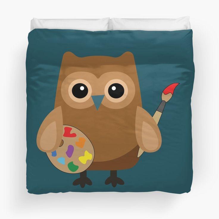 Cute Brown Owl Artist By Designsbydb, Brown Owl Bedding