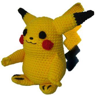 Instrucciones paso a paso gratuito para tejer al crochet (ganchillo) a Pikachu de los Pokemon