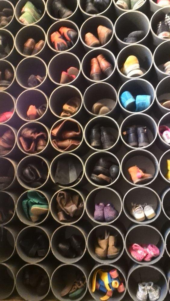 Shoe rack in PVC - tutorial | Studio Bliss