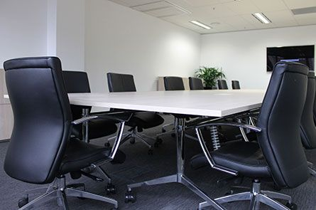 CMS installed some Affinity desk boxes in this Boardroom for power supply. CMS also installed under desk wire management systems for a clutter free environment.