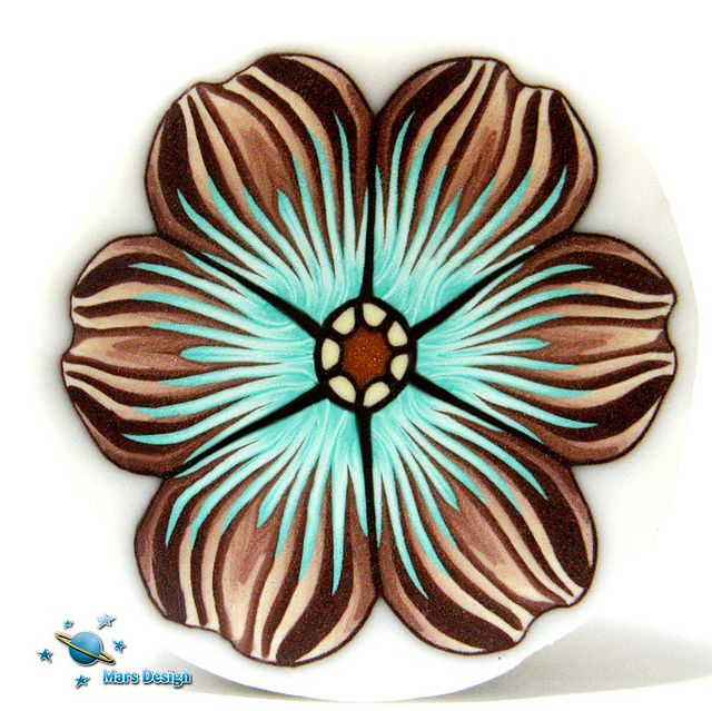 Brown aqua flower cane | Flickr - Photo Sharing!