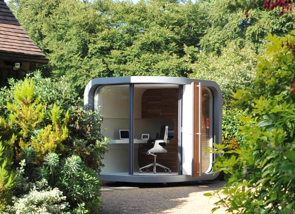 future home office gadgets. crafted to durable perfection this outdoor home office by officepod reserves you the right future gadgets