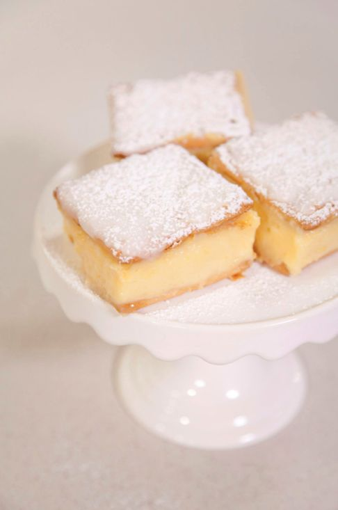 Vanilla custard slices!!! Made with cream crackers and custard powder - My favourite childhood treat!