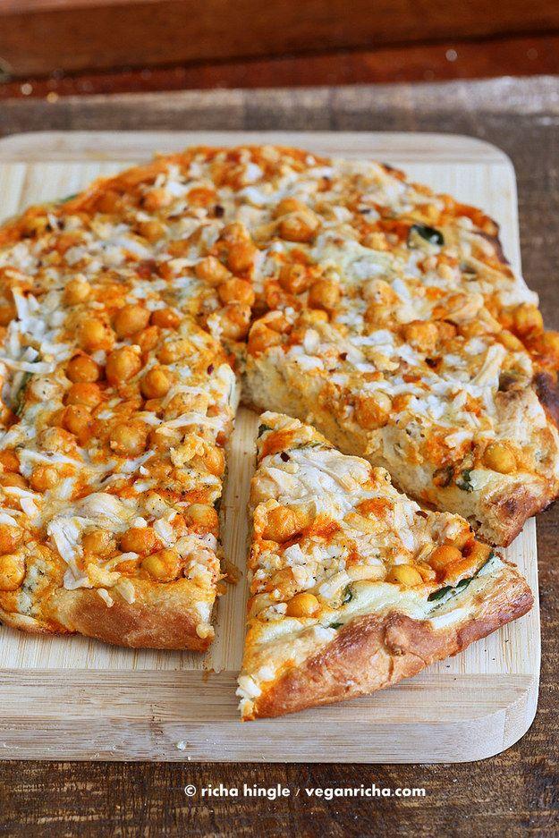 Buffalo Chickpea Pizza   17 Delicious Buffalo Sauce Ideas For Vegetarians